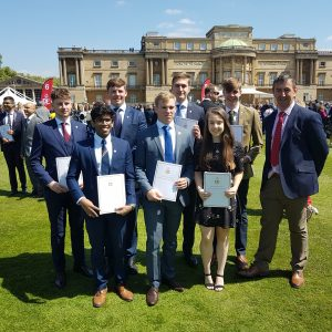 Gold DofE presentation at Buckingham Palace